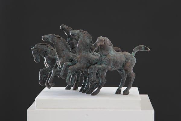 Vijf kleine paardjes